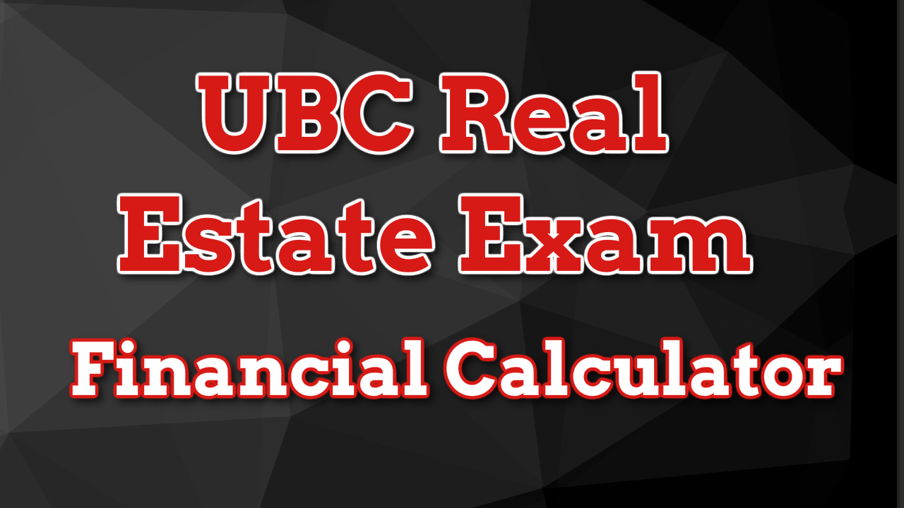 UBC Real Estate Licensing Course